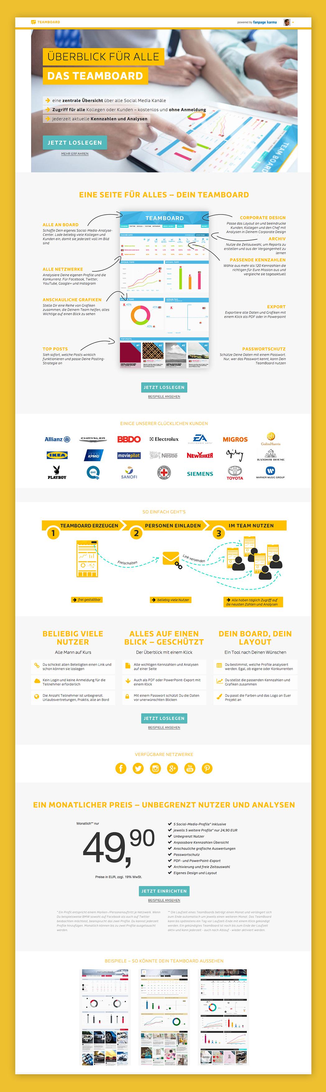 MaritaHeinzelmann_UX_UI_Design_Teamboard_FanpageKarma_LandingPage